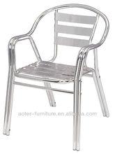 Double tube outdoor aluminum chair