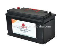 Super long life Maintenance free automotive battery ,JIS/DIN 100Ah standard top Korean car battery,12V/24V 100AH truck battery