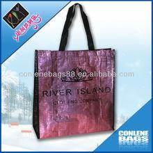 Golden Laser Film Fashion Shopping Bag
