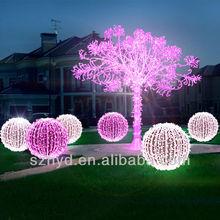 Fashionable umbrella white christmas tree light with balls