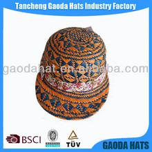 Various color raffia straw sport caps