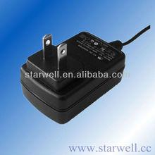 UL,CE,FCC,GS listed 7V 2A wallmounted power supply ac power adapter