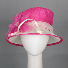 Top quality sinamay hat for party and church