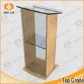 Venda hot custom design moderno púlpito de acrílico, púlpito da igreja, madeira púlpito para igreja