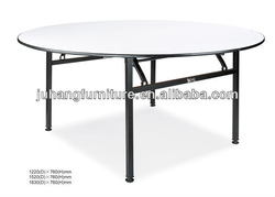 6ft Big Round Wooden Folding Table