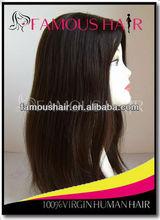 Top Grade European virgin hair full lace wig Full cuticle hair
