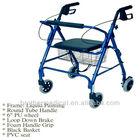 Aluminum rollator walker 4 wheels rollator for elderly and handicapped