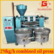 270kg per hour big capacity combined peanut oil press manual oil press