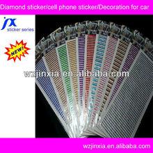 crystal mobile phone stickers,high quality crystal bling stickers,DIY rhinestone diamond sticker