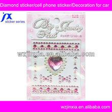 mobile phone diamond sticker,high quality crystal bling stickers,DIY rhinestone sticker