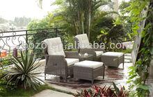 Outdoor Wicker Sofa Set garden sofa footstool