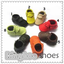 estrella de cuero de vaca suave de niño suela de cuero genuino zapatos de bebé para el niño