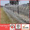 galvanized concertina razor barbed wire fence