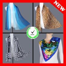 fashion silky silk feeling wholesale silk chiffon scarf