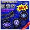 Buy one set get 1 pair film free led car logo door light 12v 5w for SantaFe auto