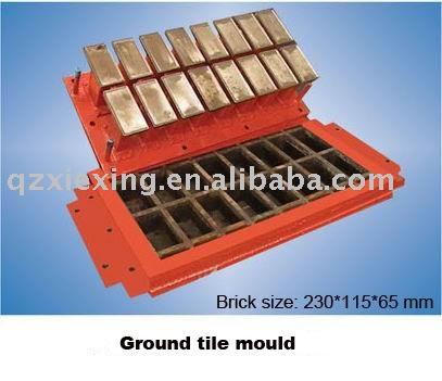 Ladrillo moho, Del bloque del molde, Adoquines de molde