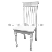 RCH-4051 High Back Dining Chair Wooden Furniture Louis White Chair