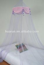 purple hanging mosquito net canopy
