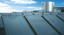 project low pressure flat plate sun power system &solar water collector project solar water heater project