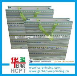 Wholesale custom color printed paper gift bags