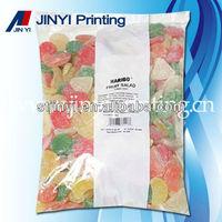 Laminated plastic flexible fancy food packaging
