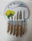 7pcs knife set &sharpener with wooden handle/kitchen knife