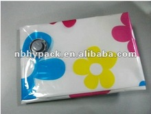colorful printed vacuum seal storage bag for colthing