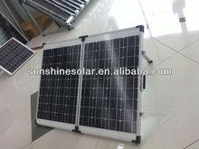 Hot!!!100w/120w/160w foldable solar panel/folding solar kit