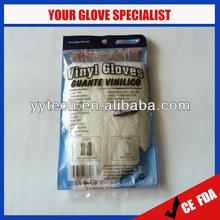 Disposable AQL1.5 powder vinyl food gloves size XL