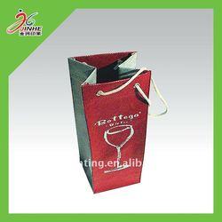 custom single bottle paper wine bag