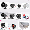 12V/24V15W/20W waterproof black auto/vehicle/car/automobile security One tone /six tone electronic alarm siren horn