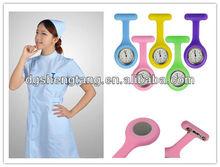 Newest fashion silicone pocket nurse watches, Japanese movt watch
