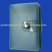 #CA8015 PVC card holder with snap closure for 20 discount cards