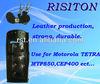 walkie talkie leather case for Motorola MPT850 two way radio case