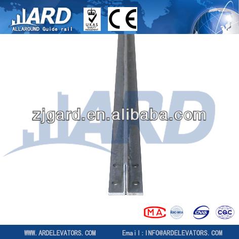 T50/A cold drawn elevator guide rail , elevator parts, small home elevator
