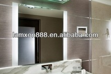 Sheraton hotel project Lamxon frosted LED light up bathroom mirrors
