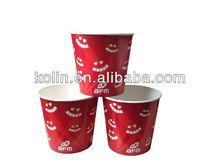170oz custom disposable paper popcorn cup/popcorn container/popcorn bucket