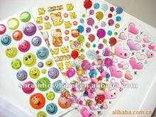 2012 most population crystal drip gum sticker for children