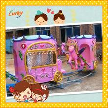 Outdoor equipment electric train/most attractive amusement track train rides