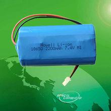 Rechargeable Li-ion Battery 18650 2200mah 7.4V