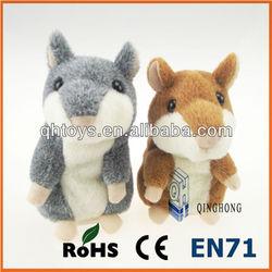 hot sale Russian talking hamster plush toy with EN71 certification