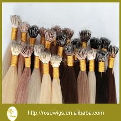 7A Best Quality 100g Italian Keratin Nano Tip Hair Extensions 1G/s 100% European Human Remy Hair Black Brown Blond Double Drawn
