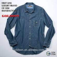 100% Cotton Chambray Western Style Man Shirt, 2013