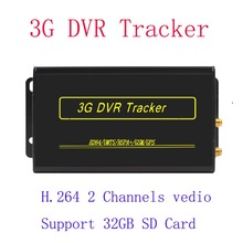 Cheap Prices!! 32GB 3G Vehicle CCTV Mobile car gps tracker with dvr provide free platform high quality