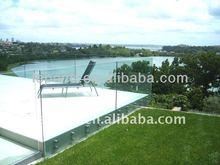 glass balcony railing/anti corrosion balcony railing