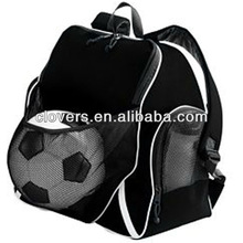 Simple design black sports bag fits foodball basketball