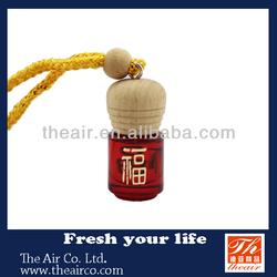 Glass Car Perfume car smell bottle/hanging car air freshener