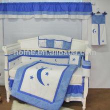 new design nightmare blue white baby boy crib bedding