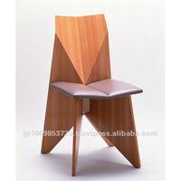 Dining chair TSURU as wooden chair designed by Sakae Kasamatsu