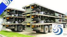 Exhaust/Boiler/Mine/2 axle gooseneck detactable low bed semi trailer transport